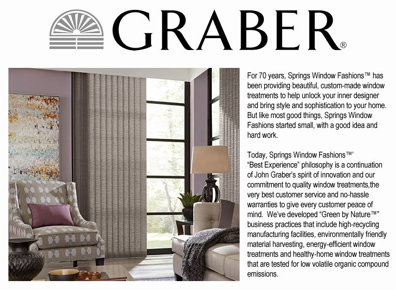 Graber is a brand and registered trademark of Springs Window Fashions™