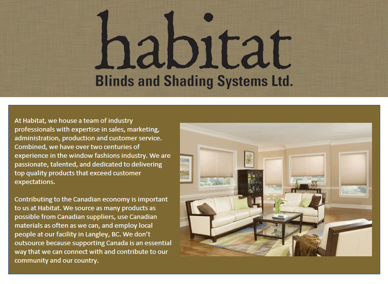 Habitat Blinds and Shading Systems Ltd